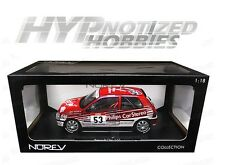 NOREV 1:18 1991 RENAULT CLIO 16S RACING TOUR DE CORSE DIE-CAST RED 185233