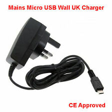 TESCO HUDL TABLET CHARGER - MICRO USB COMPATIBLE UK MAINS WALL PLUG POWER