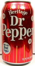 NEW FULL 355ml American Can Dr. Pepper Heritage Limited Edition USA 2010