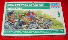ESCI CONFEDERATE INFANTRY P-223  FACTORY SEALED BOX 1:72 MODEL SOLDIERS