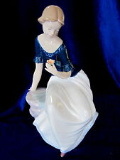 NAO BY LLADRO #1704 SPRING REFLECTIONS BNIB COLOR FLOWER SPECIAL EDITION LADY FS