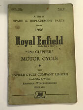 ROYAL ENFIELD 250 CLIPPER ILLUSTRATED SPARE PARTS LIST MANUAL HANDBOOK 1956