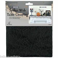 1.83m Halloween Party Black Lace Spider Web Table Runner Drape Decoration