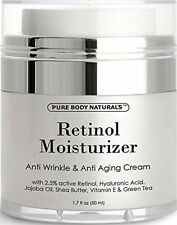 Pure Body Naturals Retinol Cream Moisturizer for Face 1.7 fl.oz