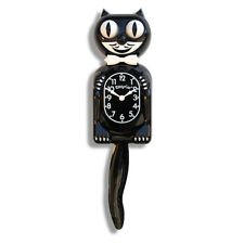 BLACK KITTY-CAT KIT-CAT MOVING CLOCK KAT KLOCK