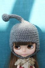 Two blythe doll hats crochet knitted VGC cosack teletubby fur trimmed
