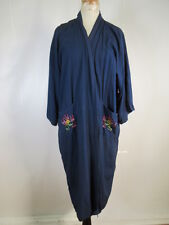 Golden Deer Chinese Robe Kimono Gown Silk Satin Embroidered Dragon Size xL 08844