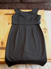 bnwt size 16 smart black sleevless just below the knee V back pencil dress