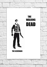 The Governor - The Walking Dead - Simple Black & White Poster/Art - A4 Size