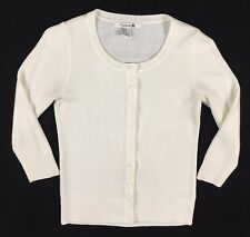Women's Forever 21 White Cream Cardigan Sweater Button Front Small Thin Light