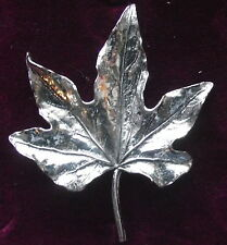 Lovely  Pewter Maple Leaf Canada  Pin Brooch