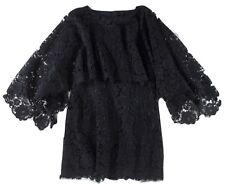 "DOLCE & GABBANA $1795 LACE ""KIMONO SLEEVE"" TOP / MINI DRESS - IT 42/US 6"