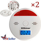 UK 2X LCD CO Carbon Monoxide Detector Poisoning Gas Warning Alarm Sensor Monitor