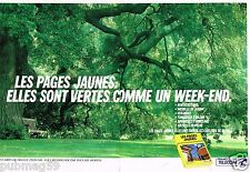 Publicité advertising 1990 (2 pages) Les Annuaires Pages Jaunes France Telecom
