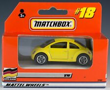Matchbox VW Concept Car Yellow #18 German Issue 1999 Mint In Box