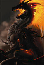 BELIAL DRAGON - LA WILLIAMS FANTASY ART POSTER - 24x36 GOTHIC 775