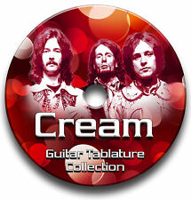 CREAM ROCK GUITAR TABS TABLATURE SONG BOOK LIBRARY SOFTWARE CD ANTHOLOGY