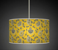 50cm Mustard Grey Floral Flower Handmade lampshade pendant light shade 588