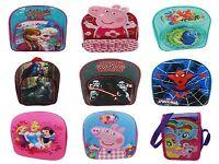 BOYS GIRLS DISNEY MARVEL CHARACTER SCHOOL BAGS KIDS BACKPACK RUCKSACK TRAVEL BAG