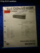 Sony Service Manual CDX C4840R /C4850R CD Player (#4174)