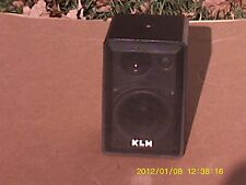 One three way KLH 4-6 ohm Black Mental cabinet Speaker System In Good Condition!