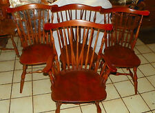 Set of Maple Heywood Wakefield Dinette Chairs / Armchair  (WCRP-DC46)