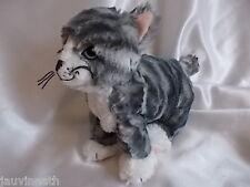 Doudou chat rayé gris et blanc, Ikéa