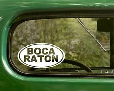 Boca Raton Decal Sticker Florida, 2 Oval for Travel Mug, Car, Laptop