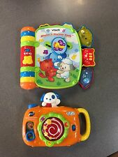 Vtech Snap & Suprise Camera & Rhyme And Discover Musical Book EUC