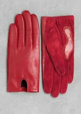 New - & Other Stories Red Leather And Suede Gloves. Size L.