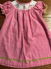Lil Cactus Toddler Girls Size 3T Smocked Princess Polka Dot Dress