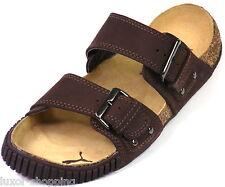 Neu PUMA Neil Barrett Leder braun Gr.38 / UK 5 Kork Sandalen Pantoletten Schuhe