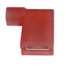 25 x RED 6.3mm Fully Insulated FLAG Terminals