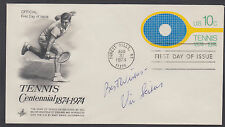 Vic Seixas, American Grand Slam Tennis Champion, signed 10c Tennis FDC