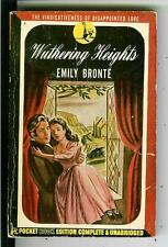 WUTHERING HEIGHTS by Emily Bronte, Pocket #7 w/rare author newspaper clippings