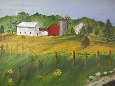 1969 Farm House Oil Painting