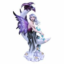 Nemesis Now Moonique 29cms Moon Fairy & Dragon Figurine Ornament gothic fantasy