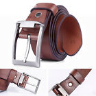 New Brown Luxury Men's Business Buckle Waistband Leather Casual Belt
