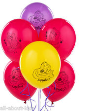 (6) Disney TANGLED Rapunzel Latex BALLOONS Birthday Party Supplies Decorations