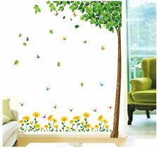 Green Tree Mariposa frontera Vinilo Wall Decals Sticker Mural De Papel Hogar Arte Decoración