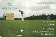 RARE / CARTE TELEPHONIQUE - GOLF CLUB GREEN 18 TROUS / PHONECARD BELGIQUE