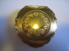 Vintage ELGIN AMERICAN Gold Tone Makeup Powder Compact