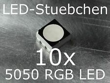 10x 5050 RGB SMD LED PLCC6 Black Face Diffused
