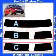 Pre Cut Window Tint Sunstrip for Honda Civic 5D Hatchback 2006-2011 Any Shade