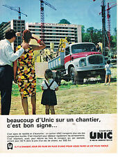 PUBLICITE ADVERTISING   1963    UNIC  camion SIMCA