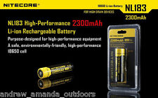 Nitecore NL188 3.7V 8.5Wh 3100mAh Protected  rechargeable 18650 battery