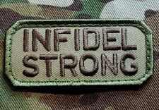 INFIDEL STRONG US USA ARMY MORALE COMBAT MILITARY BADGE MULTICAM VELCRO PATCH