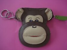 MONKEY KEY CHAIN COIN PURSE LEATHER NEW