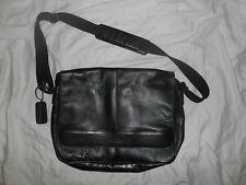 KENNETH COLE Reaction Labtop Bag Black Leather NWOT