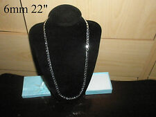 Quality Silver Plated Chain Necklace Gift Bag Fashion Men's Girlfriend Birthday